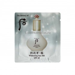 ББ крем The History of Whoo	Whitening sun BB cream SPF 45 PA+++ 1мл*10шт